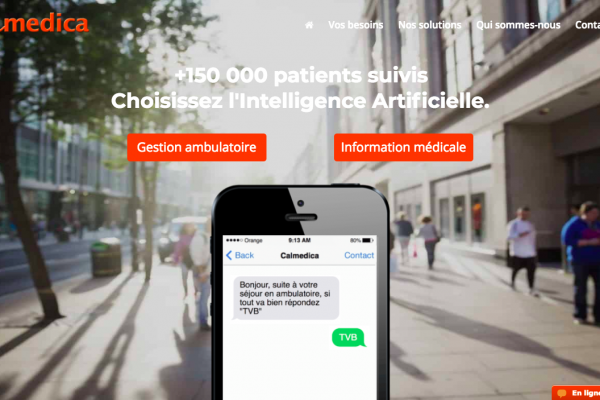 Calmedica, solution de chatbot en ambulatoire